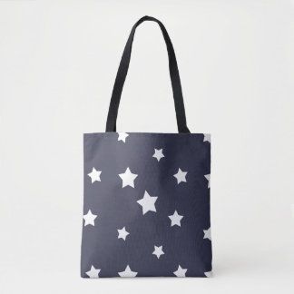White Stars Pattern, Cute Women's Tote