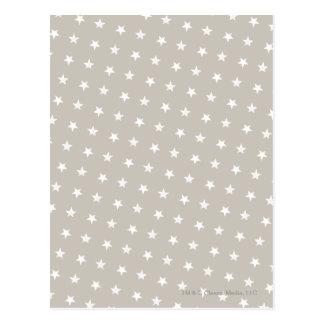 White Stars Pattern Postcard