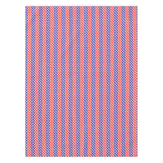 White Stars Red Blue Stripes Tablecloth