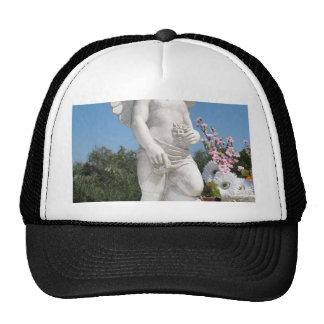 White Statue Of An Angel With Tiny Wings Trucker Hat