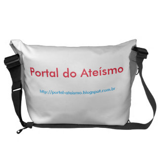 White stock market Portal of Atheism Commuter Bag