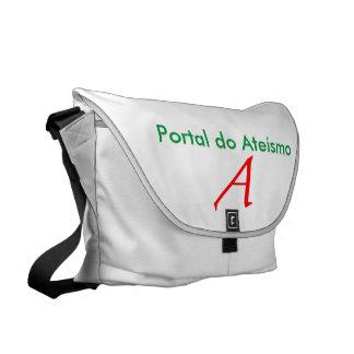 White stock market Portal of Atheism Courier Bag