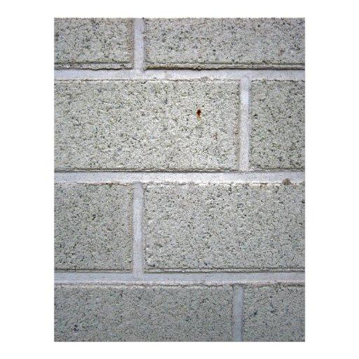 White Stone Brick Wall Texture 21.5 Cm X 28 Cm Flyer