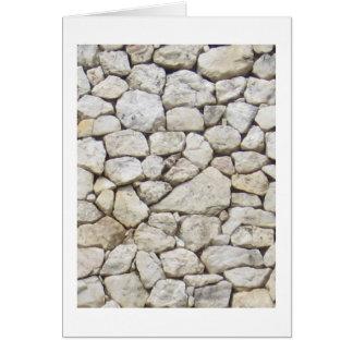White stone card