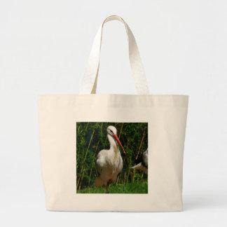 White Stork Tote Bag