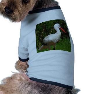 White Stork Bird Pet Clothes