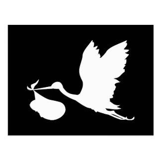 White Stork with Bundle of Joy Postcard