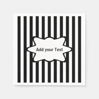 White Stripes | Choose your Background Color Disposable Serviette