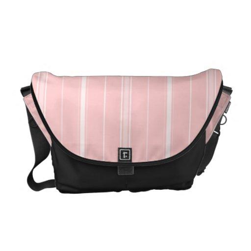 White Stripes Messenger Bag