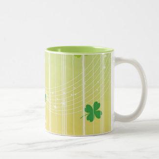 White Stripes Two-Tone Mug