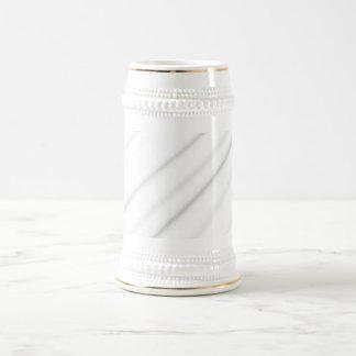 white stripes beer steins