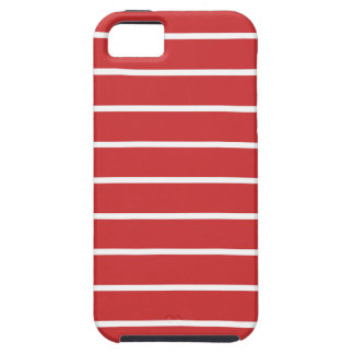 White Stripes ON Red iPhone 5 Cover