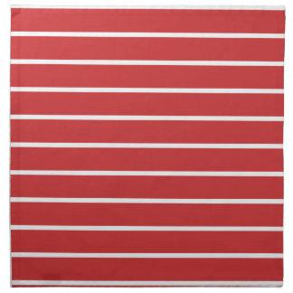 White Stripes ON Red Cloth Napkins
