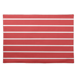 White Stripes ON Red Placemats