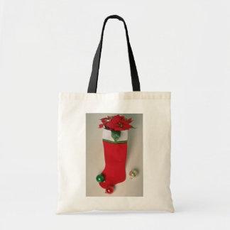 White Stuffed stocking flowers Budget Tote Bag