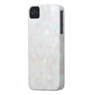 White Subtle Bokeh Sparkle Glitter iPhone 4s Case