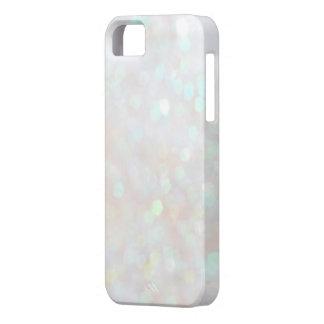 White Subtle Bokeh Sparkle Glitter iPhone 5s Case