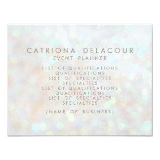 White Subtle Glitter Bokeh Business Flyer Card 11 Cm X 14 Cm Invitation Card
