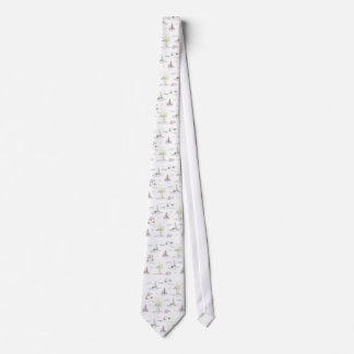 White summer beach tie
