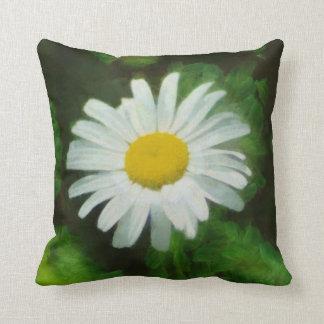 White Summer Daisy Throw Pillow Throw Cushions