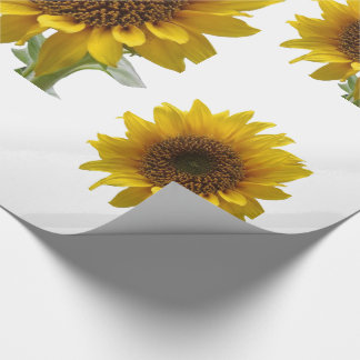 WHite sunflower wall paper for Her Wrapping Paper