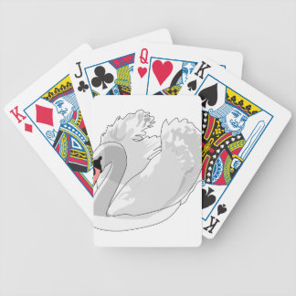 white swan bicycle playing cards