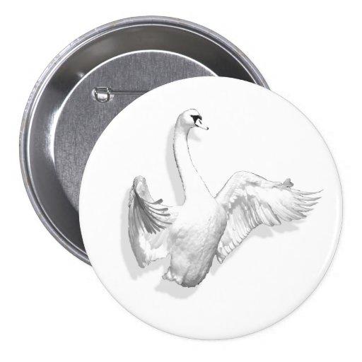 White Swan - button