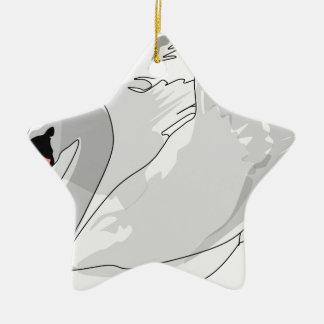 white swan christmas ornament