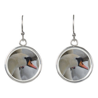 White Swan Drop Earrings