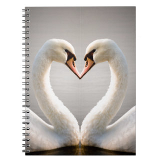 White Swan Heart Notebooks