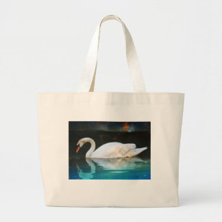 White Swan in the Lake Bags