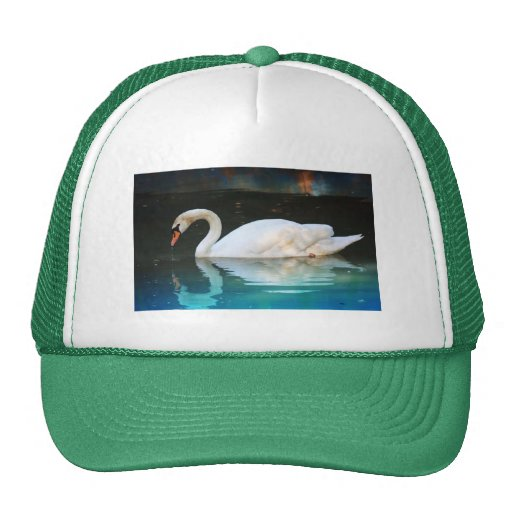 White Swan in the Lake Hat