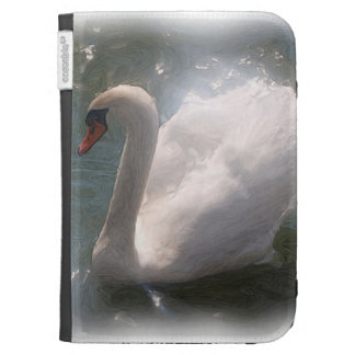 White Swan-Kindle Cover Kindle Keyboard Cases