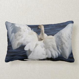 "White Swan Lumbar Throw Pillow 13x21"""