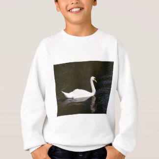 White swan reflected sweatshirt