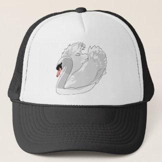 white swan trucker hat
