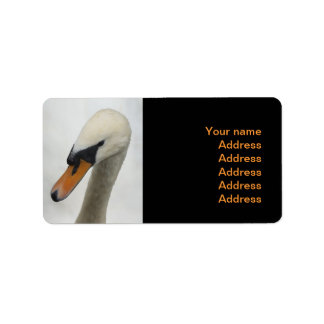 White Swan Wedding Label