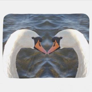 White Swans Baby Blanket