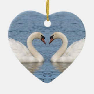 White Swans Christmas Ornament