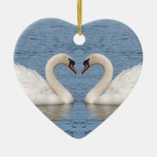 White Swans Christmas Ornament