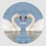 White Swans Stickers