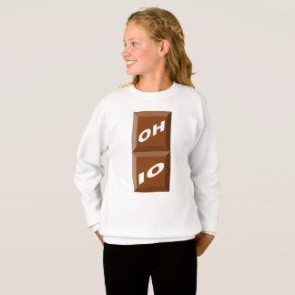 WHITE SWEAT SHIRT HANES OHIO CHOCOLATE