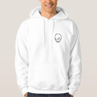 White Sweat with hood with head alien Hoodie
