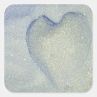 White Sweet Heart/ Sweetheart Sugar Sticker