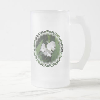 White Sweet Pea Frosted Beer Mug