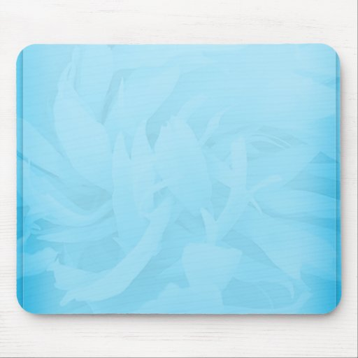 White swirls on unique bluish floral pattern mousepad
