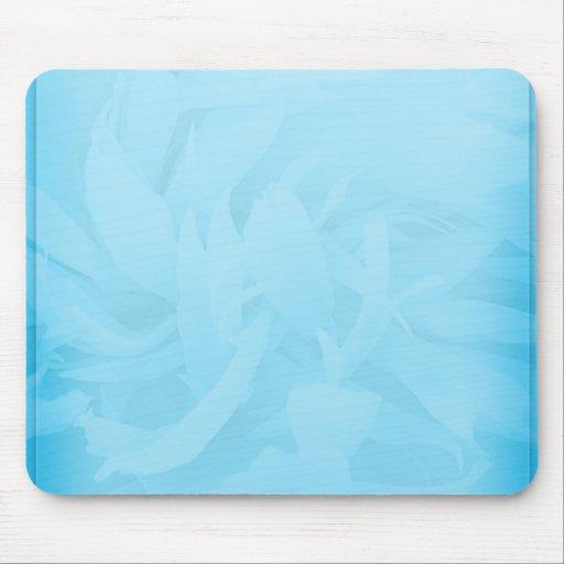 White swirls on unique bluish floral pattern mousepad