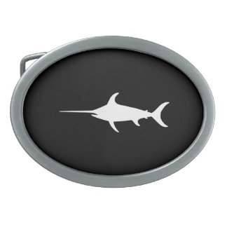 White Swordfish Belt Buckle