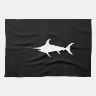 White Swordfish Tea Towel