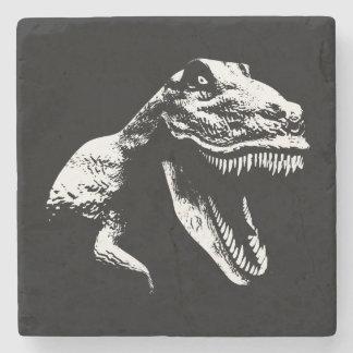 White T Rex Stone Coaster